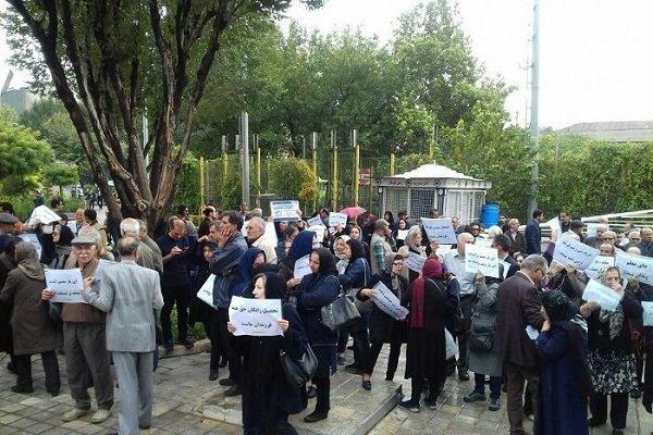 تهران تجمع اعتراضی معلمان