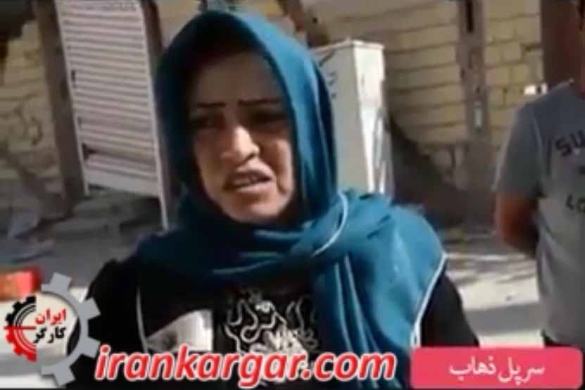 مادر زلزله زده