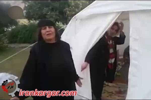 دو مادر زلزله زده