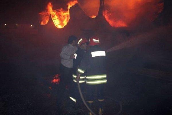 بیکاری 200 کارگر بدنبال حادثه آتش سوزی کارخانه ریسندگی و بافندگی بهشهر