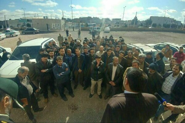 اعتصاب بازار بجستان