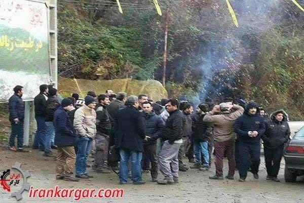 تجمع اعتراضی کارگران سد شفارود