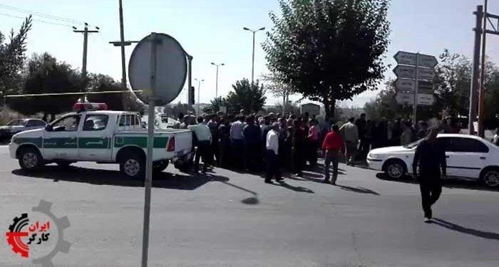 فاز جدید اعتصاب کامیونداران ، زرین شهر ۱۸ مهر ۱۳۹۷