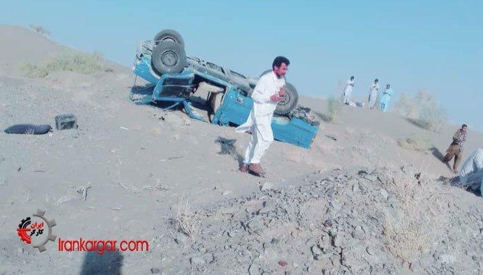 واژگون شدن سرویس مدرسه در ایرانشهر
