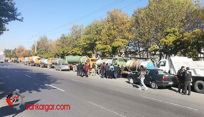 اعتصاب کامیونداران مشهد