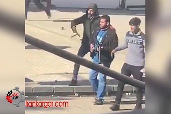 کرمانشاه حمله و هجوم گلهای بسیجیان