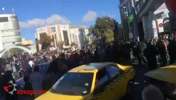اعتراض به گرانی بنزین در کرمانشاه