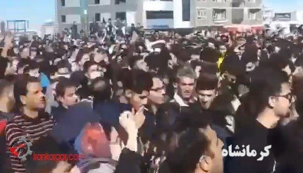 مردم معترض کرمانشاه