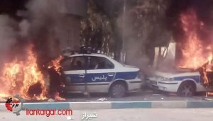 اعتراضات به گرانی بنزین شیراز