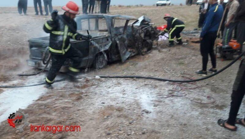 تصادف مرگبار دو خودرو