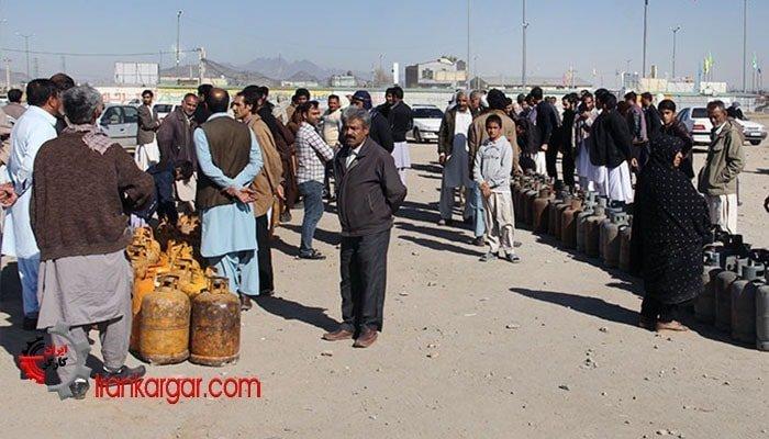 سیستان و بلوچستان صف سیلندر گاز
