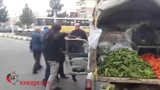 تبریز کتک زدن و بردن خودرو یک میوه فروش