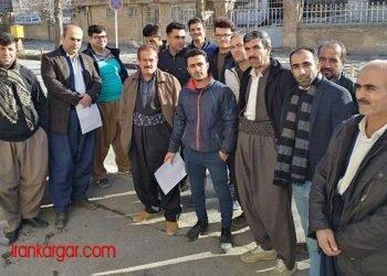 تجمع اعتراضی کارگران پروژه آبرسانی سد گاران
