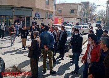 تجمع اعتراضی کاسبان شهر قروه