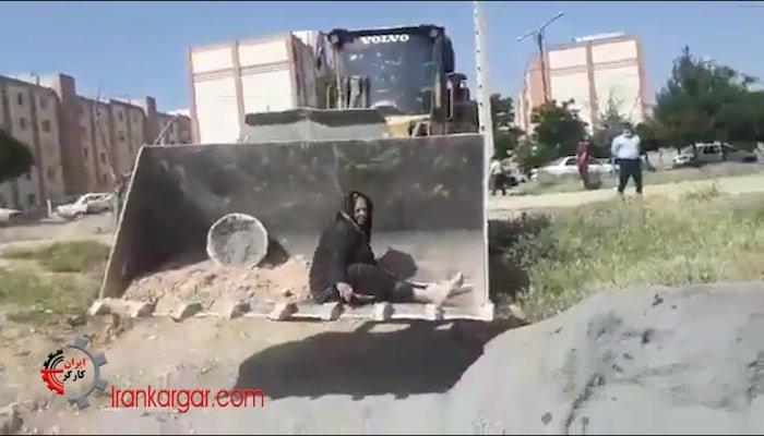 تخریب خانه یک مادر فقیر  ایران