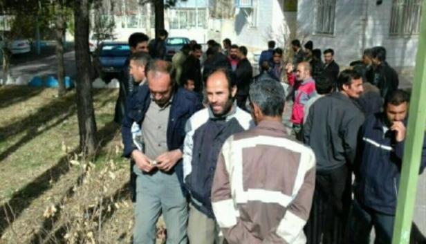 اعتراض کارگران شهرداری محمد شهر