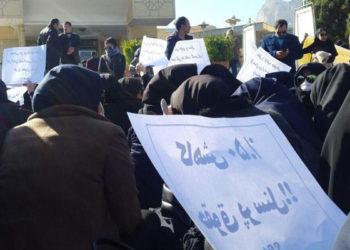 تجمع اعتراضی نیروهای شرکتی شاغل در حوزههای بهداشت