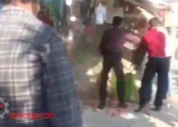 حمله ماموران شهرداری به میوه فروشی