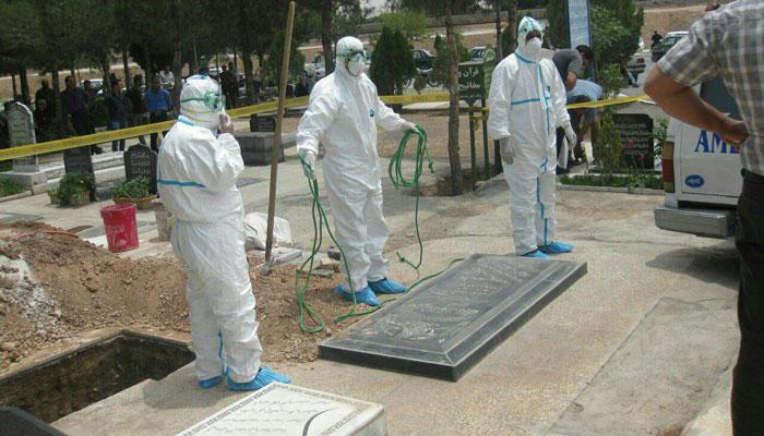 دفن ۲۳۴ بیمار کرونایی در بهشت زهرای تهران