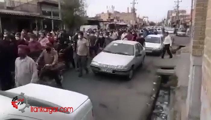 راهپیمایی کارگران نیشکر هفت تپه