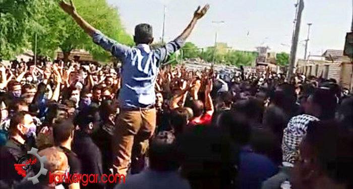 تجمع اعتراضی کارگران نیشکر هفت تپه اتحاد اعتراضات کارگران