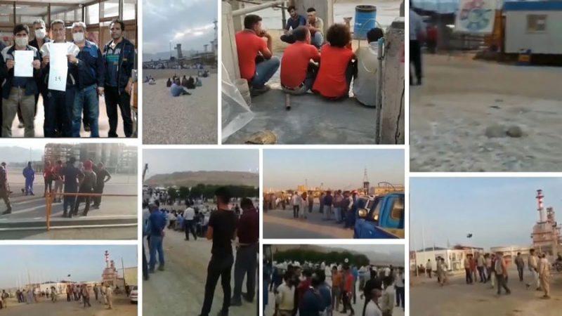 ادامه اعتصاب کارگران صنعت نفت و پتروشیمی و سایر مراکز صنعتی در آستانه روز  دوازدهم
