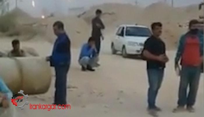 اعتصاب کارگران نیروگاه برق بیدخون شهرستان عسلویه