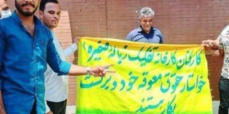 اعتراضات کارگران سایت پسماند صفیره اهواز