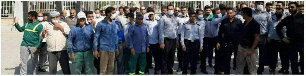 تجمع اعتراضی کارگران شهرداری خرمشهر