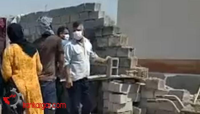 تخریب دیوار خانه