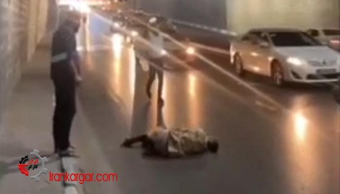 خودکشی یک سرباز وظیفه با پرتاب خود از بالای پل