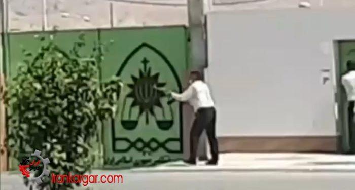 صحنه شلیک ماموران انتظامی به سمت معترضین در لیکک