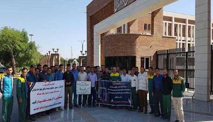 اعتراض کارگران شهرداری