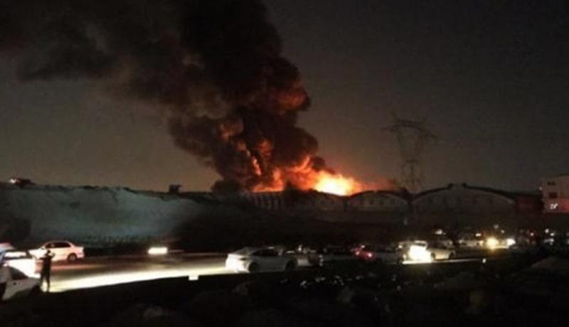 آتش سوزی گسترده در کارخانه شهر لبنیات (میهن) در جنوب تهران