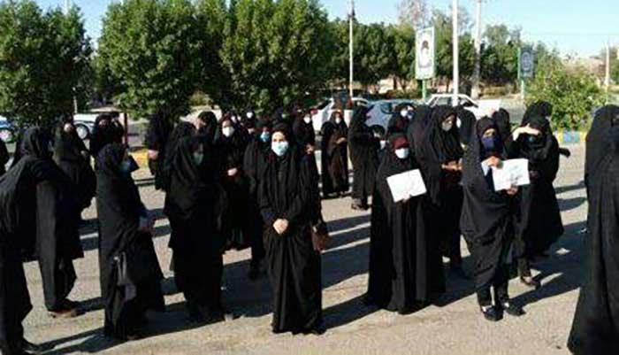 تجمع اعتراضی معلمان مدارس مشارکتی