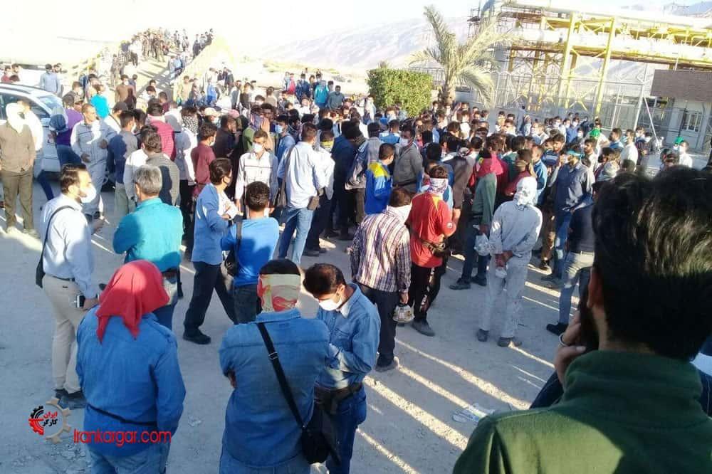 اعتصاب کارگران پیمانی پالایشگاه گاز پارسیان لامرد در اعتراض به عدم دریافت حقوق