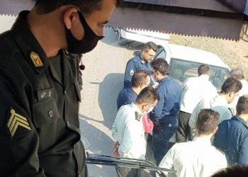 تجمع دانشجویان در شرکت کشت و صنعت مغان