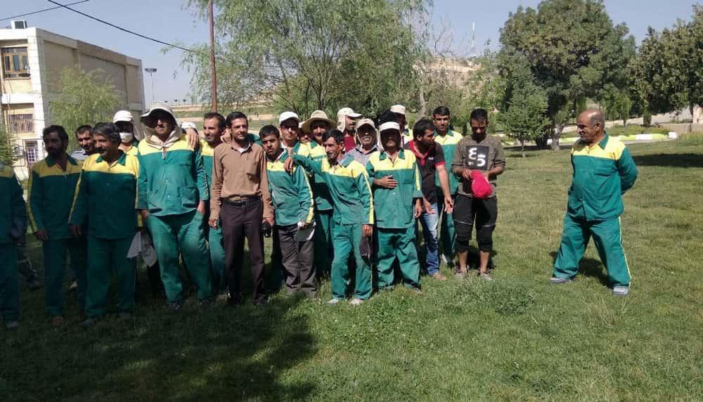 اعتراض کارگران فضای سبز شهرداری یاسوج