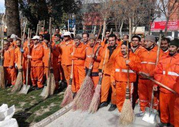 اعتراض کارگران شهرداری لوشان