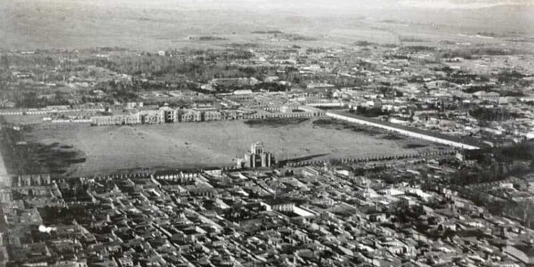 اولین عکس هوایی دیدنی از تهران سردر باغ ملی