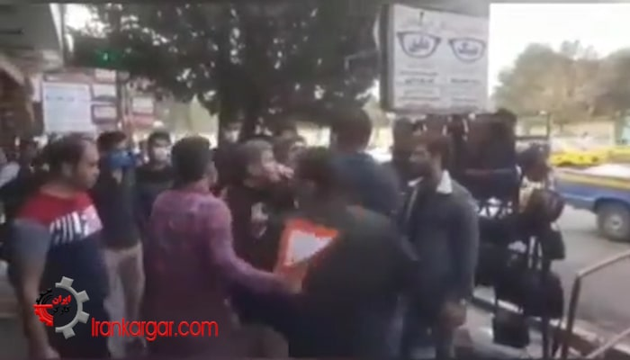 برچیدن بساط یک دستفروش در پاکدشت و مخالفت مردم