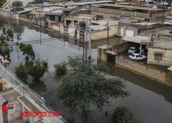 سیلاب و فوران فاضلاب در شهرهای خوزستان