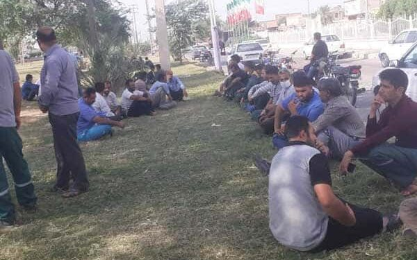 اعتصاب کارگران شهرداری کوت عبدالله