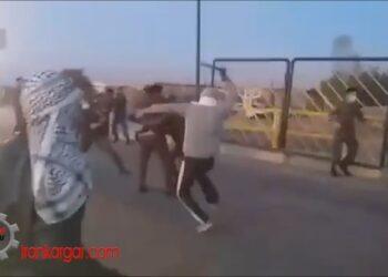 درگیری جوانان جویای کار روستای ابوصخیر با نیروی انتظامی