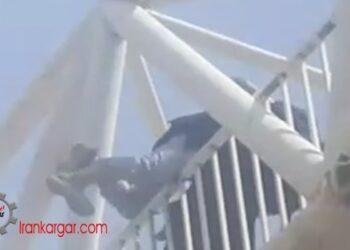 نجات دختر جوانی که قصد خودکشی با پریدن از پل عابر در تهران