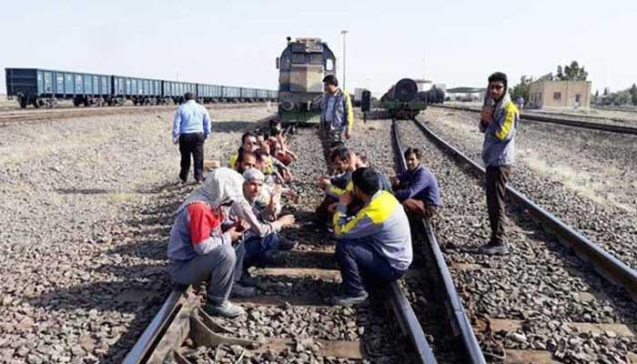 کارگران راه آهن لرستان