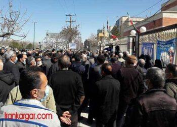 گزارشی از تجمع بازنشستگان تامین اجتماعی تهران