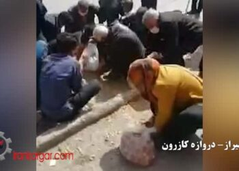 کتک زدن دستفروشان شیراز