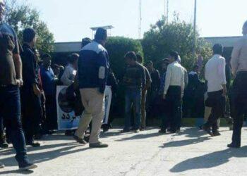 تجمع اعتراضی کارگران هفت تپه