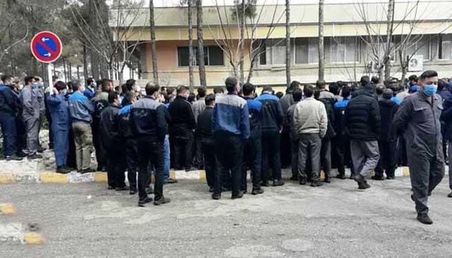 اعتصاب کارگران کارخانه لاستیک پارس
